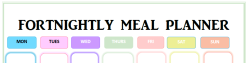 fortnightly meal plan
