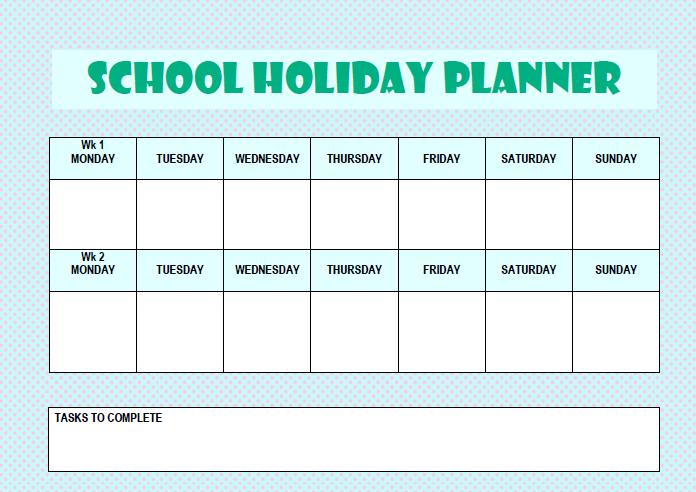school planner printable